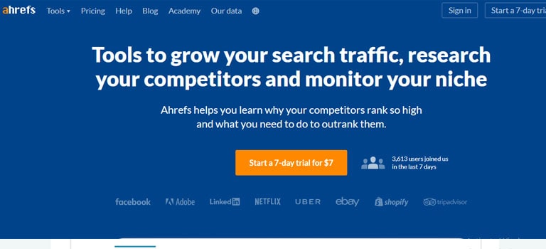 Ahrefs Search Engine Optimization Toolbar